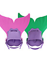 Dykkerfinner Svømmefinner Havfrue Justérbar pasform Korte svømmefødder Svømning Dykning Snorkling TPR PP - til Børn Rosa Grøn Lyseblå