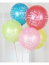 Kulor Ballonger Leksaker Cirkelrunda Uppblåsbar Party Tjock Latex Unisex 100 Bitar