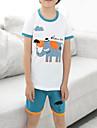 Unisex Set Îmbrăcăminte Imprimeu Animal Bumbac Zilnic Vară Alb