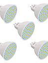 YWXLIGHT® 5pcs 3W 200-300lm GU10 GU5.3(MR16) E26 / E27 LED-spotlights 36 LED-pärlor SMD 2835 Dekorativ Varmvit Kallvit Naturlig vit