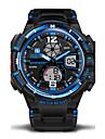 Bărbați Ceas Sport / Ceas Militar  / Ceas de Mână Alarmă / Calendar / Rezistent la Apă Cauciuc Bandă camuflaj Negru / Verde / LCD / Zone Duale de Timp  / Cronometru / Doi ani