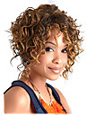 Synthetic Wig Curly / Afro Black Brown Synthetic Hair Women\'s Highlighted / Balayage Hair Black Wig Short Lace Front
