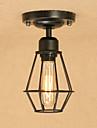 Retro Rustique Lampe suspendue Pour Salle de sejour Salle a manger Bureau/Bureau de maison Couloir Garage AC 100-240V Ampoule incluse