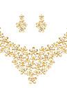 Pentru femei Seturi de bijuterii Ștras Placat Auriu Aliaj Floare Floral Stil Floral Clasic Flori Modă Nuntă Petrecere Ocazie specială Zi