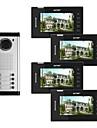 actop 7 tums färg video trådbunden metall de bästa systemen för byggnader säkerhetsprodukt