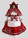 One-piece/Klänning Kappa Blus/Skjorta Gotisk Lolita Rokoko Cosplay Lolita-klänning Enfärgat Långärmad Knälång Kappa Skjorta Klänning För