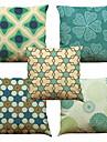 """ensemble de 5 geometrie abstraite couvert de coussin de lin casier a domicile oreiller carre (18 """"* 18"""")"""