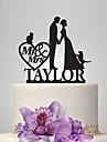Vârfuri de Tort Personalizat Cuplu Clasic Acrilic Nuntă Aniversare Petrecerea Bridal ShowerTemă Grădină Temă Clasică Temă Basme Tema