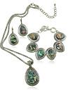 Pentru femei Coliere Choker Coliere cu Pandativ Cowry Aliaj Stil Atârnat Vintage Personalizat Euramerican Curcubeu Bijuterii PentruNuntă