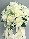 "Flori de Nuntă Rotund Trandafiri Buchete Nuntă Satin 11.02""(Approx.28cm)"