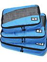 3 pieces Sac de Voyage Organisateur de Bagage Portable Pliable Rangement de Voyage Accessoire de Bagage Durable Grande Capacite Vetements