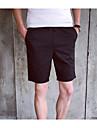 Bărbați Drept Simplu Talie Inaltă,Micro-elastic Pantaloni Scurți Pantaloni Mată