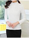 Pentru femei Stand Buton Mărime Plus Size Bluză Mată Culoare pură