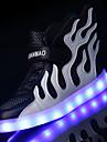 Băieți Pantofi Tul Vară Toamnă Confortabili Tălpi cu Lumini Pantofi Usori Adidași LED pentru De Atletism Casual În aer liber Roz
