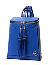 Pentru femei Genți PU rucsac pentru Casual Toate Sezoanele Albastru piscină Șampanie Negru Bej Fucsia