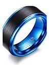 Bărbați Inel Design Basic La modă Personalizat Euramerican stil minimalist Oțel Tungsten Circle Shape Round Shape Geometric Shape
