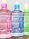 2pcs din material plastic transparent portabil cutie de apa cu cantitati de apa 500ml