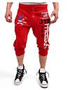 Bărbați Larg Activ Talie Medie,Micro-elastic Pantaloni Chinos Pantaloni Scrisă
