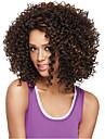 Sintetičke perike Kovrčav / afro Stil Capless Perika Smeđa Bež Sintentička kosa Žene Afro-američka perika Smeđa Perika Srednja dužina Prirodna perika