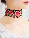 Pentru femei Coliere Choker Guler Coliere eșarfă Bijuterii Flower Shape Material TextilDesign Basic Floral Bohemia Stil Cute Stil