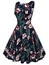 Pentru femei Vintage Șic Stradă Swing Rochie Floral Lungime Genunchi