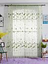 Un Panou Tratamentul fereastră Țara , Frunză Dormitor Poliester Material Sheer Perdele Shades Pagina de decorare For Fereastră