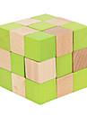 Rubiks kub Mjuk hastighetskub Magiska kuber Träpussel Hjärngymnastik Utbildningsleksak Pusselkub IQ-test Trä Fyrkantig Present