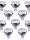 10pcs 5.5 W 450-500 lm MR16 LED-spotlights 4 LED-pärlor Högeffekts-LED Dekorativ Varmvit Kallvit 12 V / RoHs