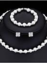Pentru femei Zirconiu Cubic Set bijuterii - Modă Include Κολιέ με Πέρλες Alb Pentru Nuntă / Petrecere / Logodnă