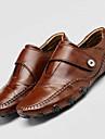 Bărbați Pantofi Piele Vară Toamnă Tălpi cu Lumini Confortabili Mocasini & Balerini Cârlig & Buclă pentru Casual În aer liber Negru Maro