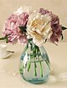 5 Piese 5 ramură Plastic Bujori Față de masă flori Flori artificiale