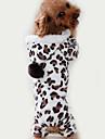 Chat Chien Combinaison-pantalon Pyjamas Vetements pour Chien Leopard Marron Polaire Costume Pour Printemps & Automne Hiver Homme Femme Decontracte / Quotidien