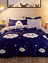 Duvet Cover Sets Contemporary Poly / Cotton Reactive Print 4 PieceBedding Sets / 300 / (If Twin size, only 1 Sham or Pillowcase)