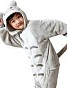 Kigurumi-pyjamas Totoro Animé Onesie-pyjamas Kostym Flanell Grå Cosplay För Barn Pyjamas med djur Tecknad serie halloween Festival /