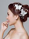 Dantelă Flori Instrumentul pentru păr Clip de păr 1 Nuntă Ocazie specială În aer liber Diadema