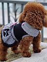Câine Rochii Îmbrăcăminte Câini Prințesă Negru Bumbac Costume Pentru animale de companie Bărbați Pentru femei Clasic Draguț Casul/Zilnic