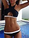 Bikini Cu Bretele Solid Polyester