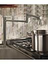 Moderne Decoration artistique/Retro Rustique Pot Filler Vasque Separe Rotatif Soupape ceramique Deux poignees un trou Chrome, Robinet de