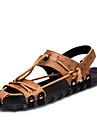 Bărbați Pantofi Piele Vară / Toamnă Confortabili / Tălpi cu Lumini Sandale Negru / Maro