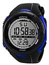 Heren Sporthorloge Digitaal horloge Digitaal Silicone Zwart 30 m Vrijetijdshorloge Cool Digitaal Wit Zwart Blauw