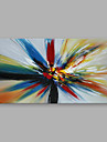 HANDMÅLAD Abstrakt Horisontell, Moderna Hang målad oljemålning Hem-dekoration En panel