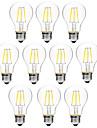 BRELONG® 10pcs 6W 450 lm E27 LED-glödlampor A60(A19) 6 lysdioder COB Bimbar Varmvit Vit AC 200-240V