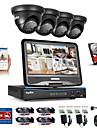 sannce® 8ch 4st 720p väderbeständigt säkerhetssystem 4in1 1080p lcd dvr stöds tvi analog ahd ip kamera 1tb hd