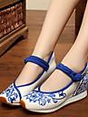 Damă Pantofi Flați Confortabili Țesătură Primăvară Zilnic Confortabili Alb Albastru Plat