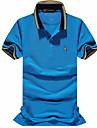 Bărbați Guler Larg Polo Plus Size Simplu Activ,Mată Imprimeu Manșon scurt Primăvară Vară-Mediu Gros Bumbac