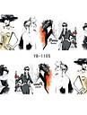 6pcs Vattenövergångsklistermärke Nail Stamping Mall Dagligen Mode Hög kvalitet