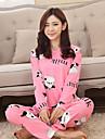 Pentru femei Bumbac Costume Pijamale - Imprimeu, Animal
