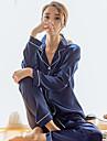 Pentru femei Pijama Pentru femei Subțire Poliester Satin