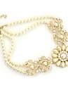 Pentru femei Coliere Colier de putere Perle Floare Perle Aliaj Vintage Petrecere Modă Bijuterii Statement Bijuterii Pentru Nuntă