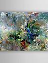 Peinture a l\'huile Hang-peint Peint a la main - Abstrait Moderne Style artistique Abstrait Toile